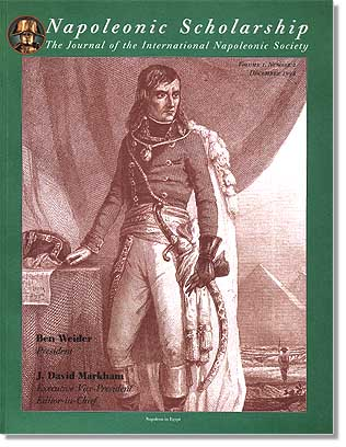 Journal Of Napoleonic Scholarship 1998 cover