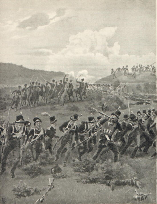 Norwegian Cavalry Pursuing Swedes 1814