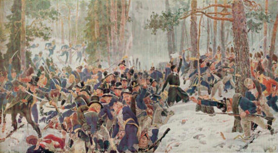 A Vicious Combat In The Norwegian Woods  1808