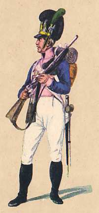 Bavaria: Rifleman 7th Infantry Regiment Fürst Löwenstein-Wertheim: 1811