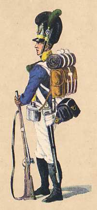 Bavaria: Rifleman 8th Infantry Regiment Herzog Pius : 1811