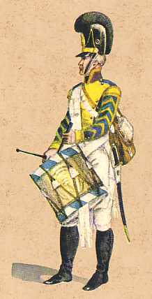 Bavaria: Drummer 9th Infantry Regiment Ysenburg : 1806
