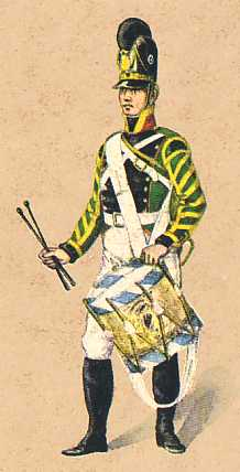 Bavaria: Drummer 2nd Light Infantry Battalion Dietfurth: 1806