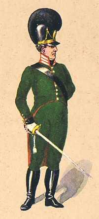 Bavaria Captain 4th Light Infantry Battalion Wreden 1808