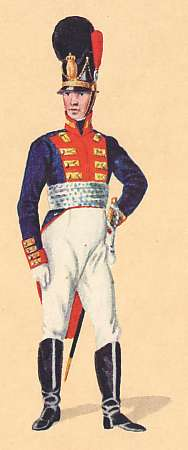 Bavaria: Grenadier Lieutenant 2nd Infantry Regiment Kronprinz: 1806