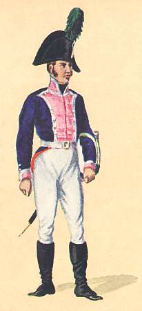 Bavaria: Hautboist 5th Infantry Regiment Preysing: 1806