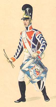Bavaria: Drummer 12th Infantry Regiment Löwenstein: 1806