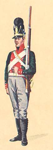 Bavaria: Private 5th Light Infantry Battlalion Delamotte: 1806