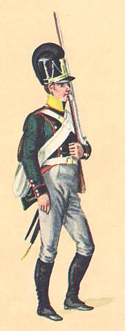 Bavaria: Private 5th Light Infantry Delamotte: 1806