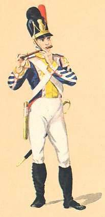 Bavaria: Grenadier Fifer 4th Infantry Regiment: 1811