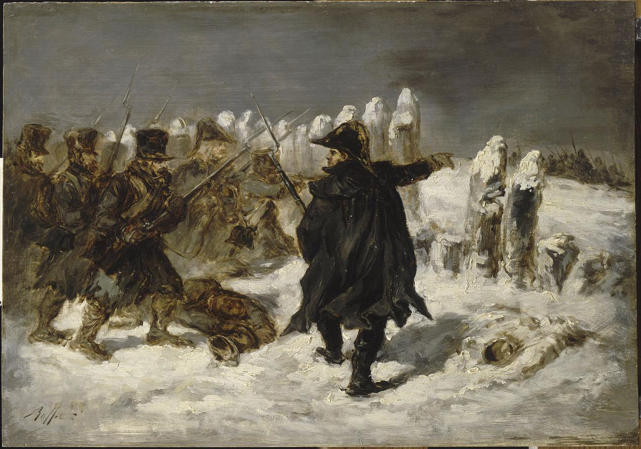Denis-Auguste-Marie Raffet (1804-1860), Marshal Ney in the redoubt of  Kovno, 12 december 1812 (oil on canvas, Musée du Louvre)