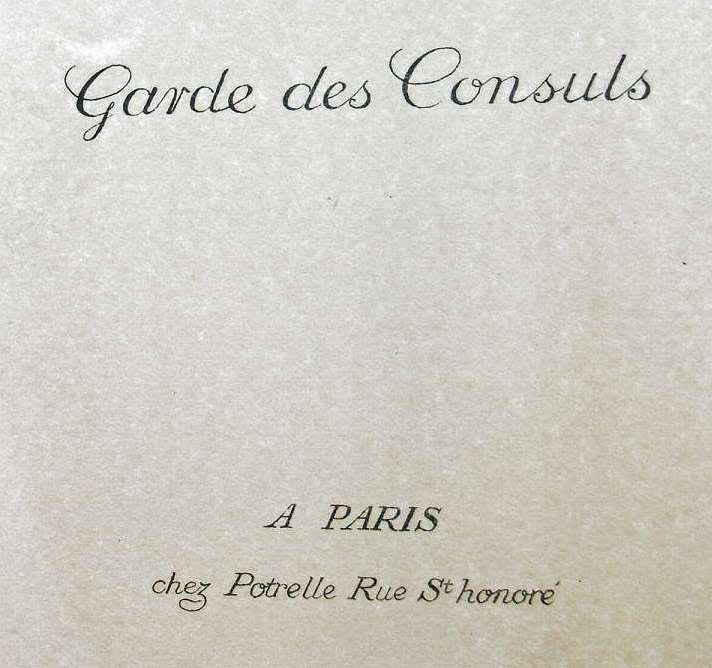 POTRELLE : LA GARDE DES CONSULS – 1801 Potrelletitle1b
