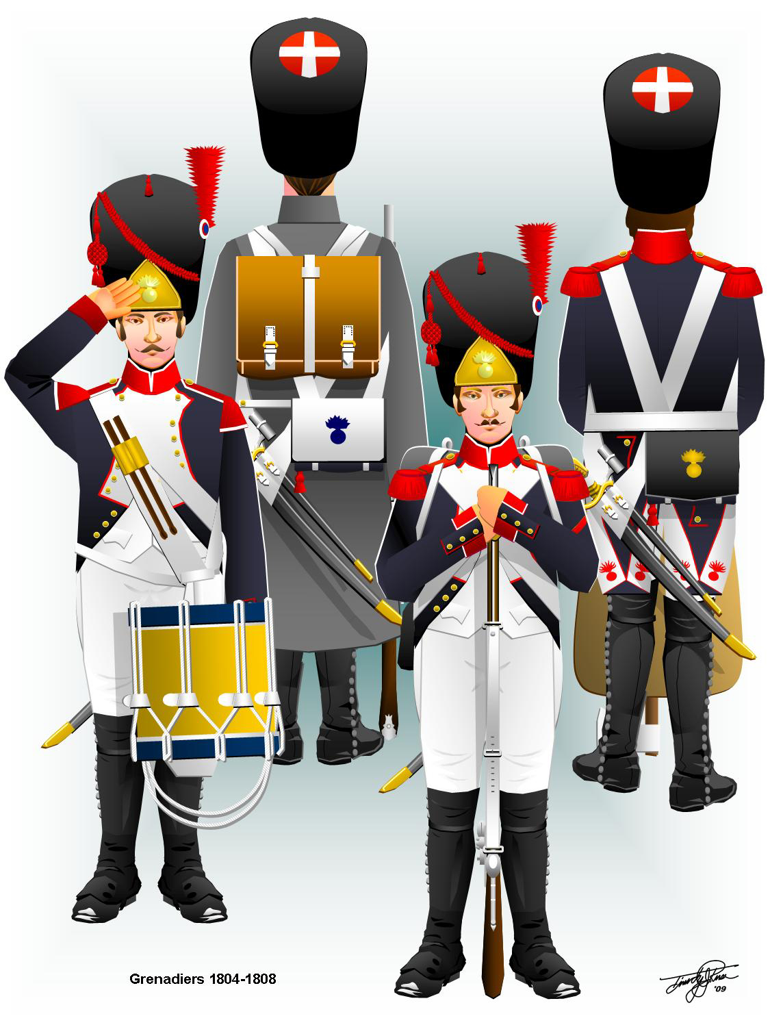 Uniforms of the french line infantry: 1804 - 1812