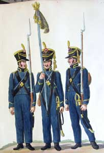 French Sailors of the Guard in Hamburg (circa 1806 - 1807) : the Uniform Plates of the Suhr Brothers