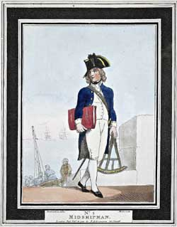 Uniforms of the British Navy in 1799: the Thomas Rowlandson Images