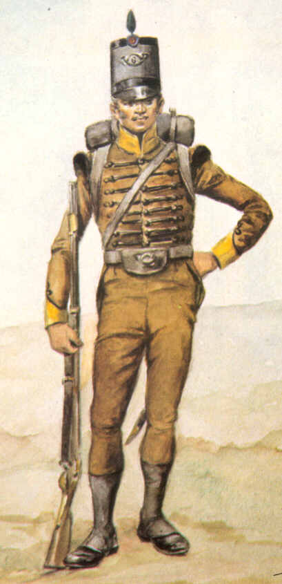Uniforms of the Portuguese 6th Cacadores in 1811