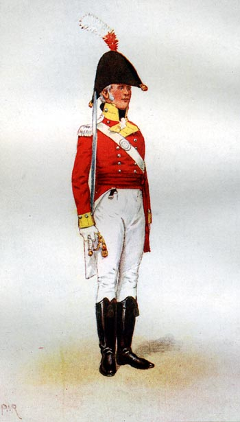 Officer's Uniform of the 30th Foot 1806