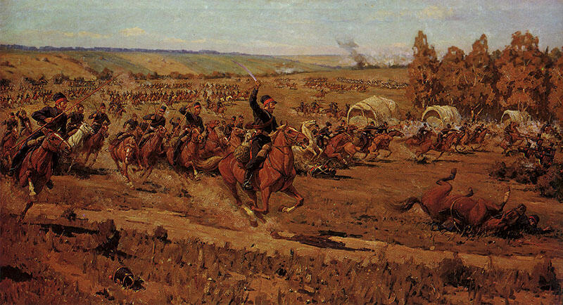 The Attack of Platov's Cossacks