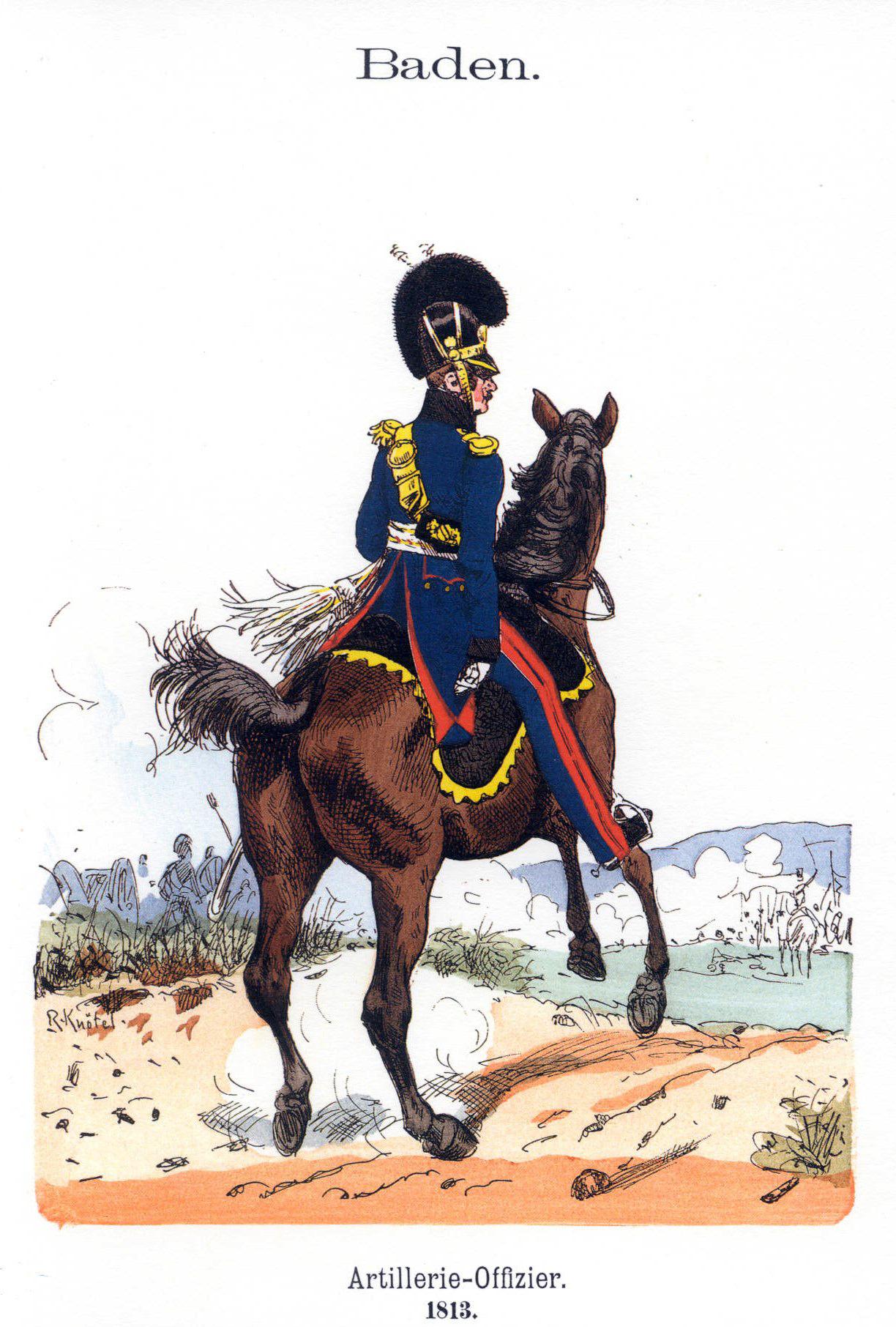 The Uniform Plates of Richard Knötel: The Baden Army 1802 ...
